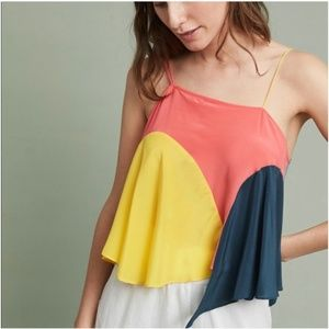 Anthro Lilka Colorblock Vista Asymmetrical Top